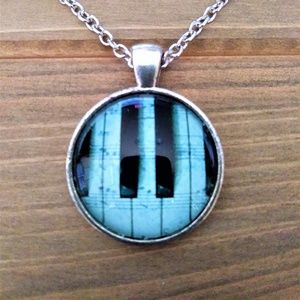 Jewelry - Piano Keys Glass Cabochon Pendant Necklace